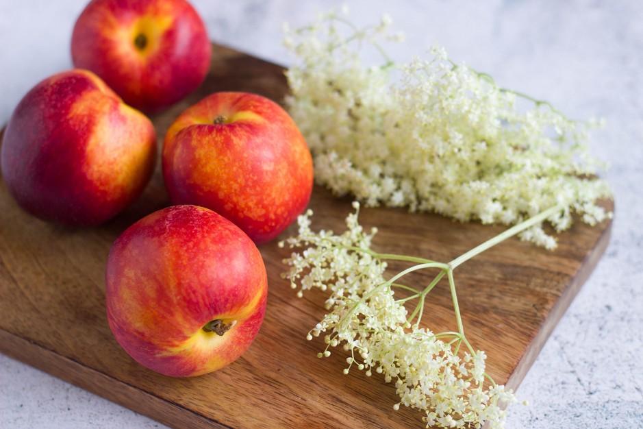 Pfirsichgelee mit Hollunderblüten