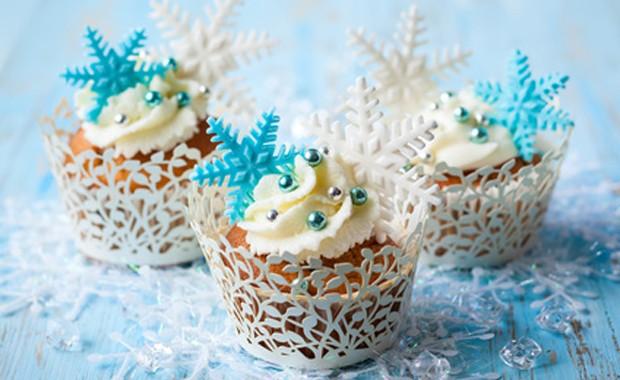 Köstliche weihnachtliche Cupcakes