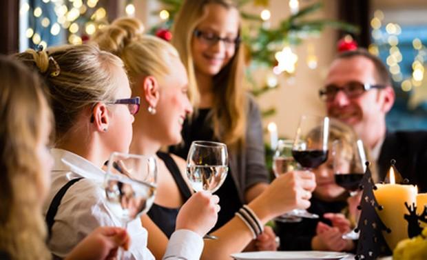 Weihnachten und Wein