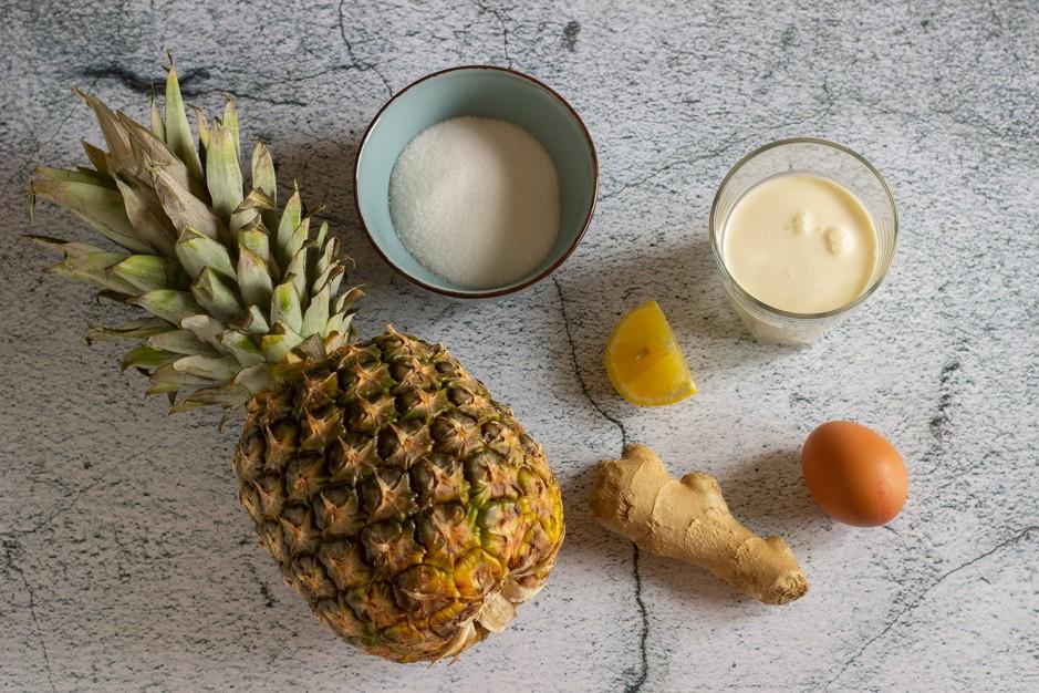 Ananas-Eis mit Ingwer