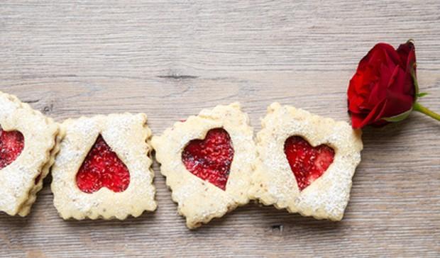 Kekse mit Herzen