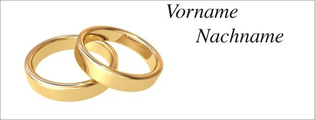 Tischkarte Hochzeit - Vorlage 6