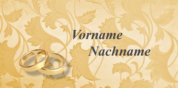 Tischkarte Goldene Hochzeit - Vorlage 2