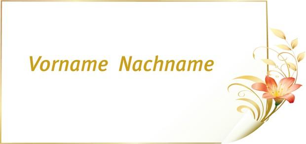 Tischkarte Goldene Hochzeit - Vorlage 3