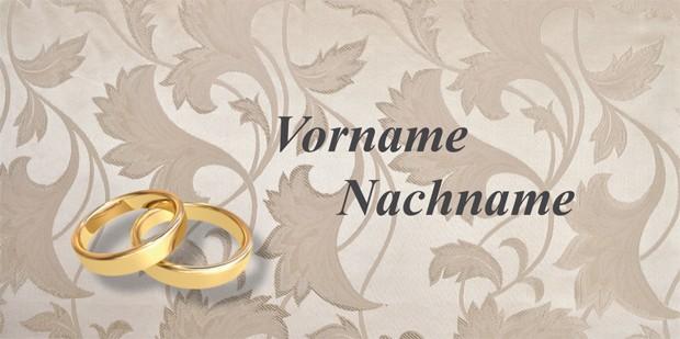 Tischkarte Silberne Hochzeit - Vorlage 1