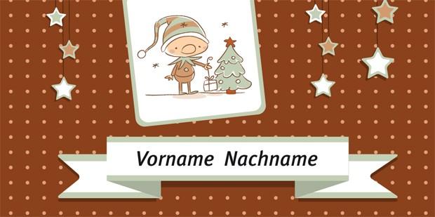 Tischkarte Weihnachten - Vorlage 3