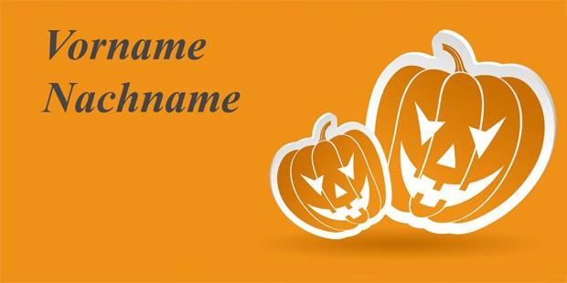Tischkarte Halloween - Vorlage 1