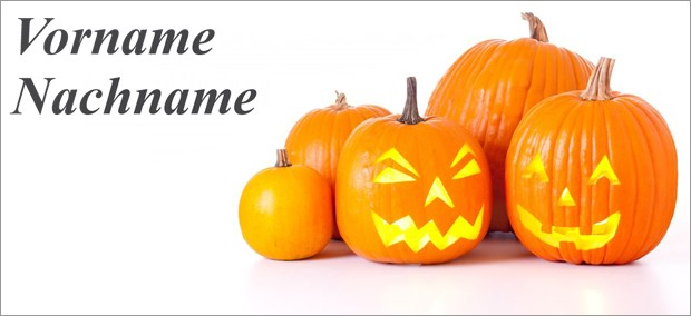 Tischkarte Halloween - Vorlage 5