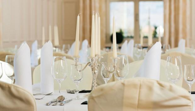 Silberne Hochzeit Tischdkoration
