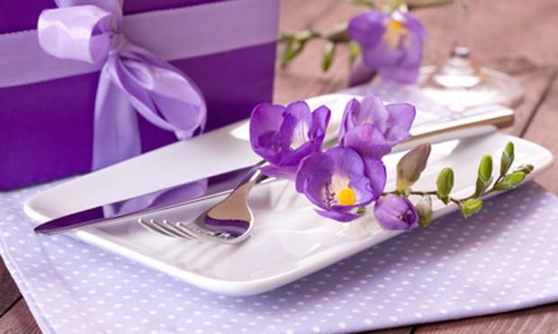 Tischdekoration Krokosblume