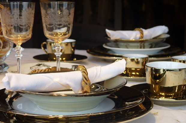 Silvester Tischdekoration