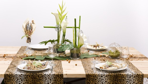Tischdekoration exotisch