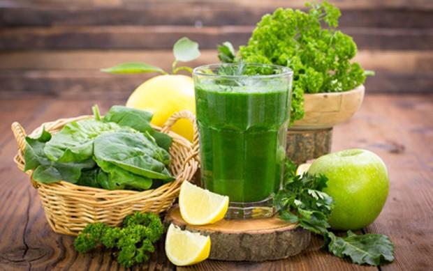 Grüner, gesunder Smoothie