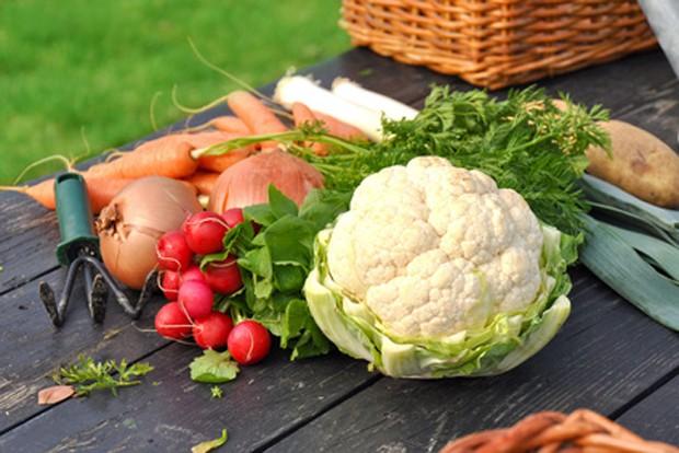 Gemüse für den Erdofen