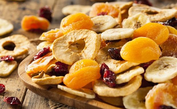 Trockenfrüchte und Nüsse sind sehr gesund