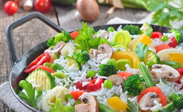 Ein gesundes Essen schnell und einfach zubereitet.