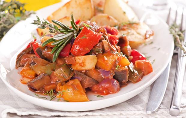 Würziges, vegetarisches Gericht
