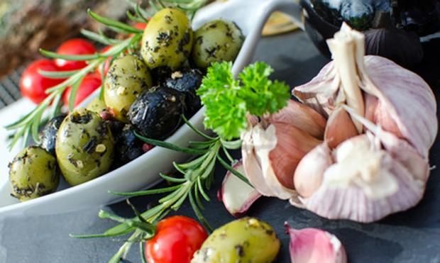 Mediterrane Küche ist sehr gesund