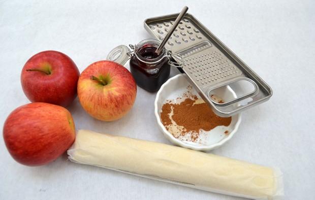 Zutaten für Apfelrose
