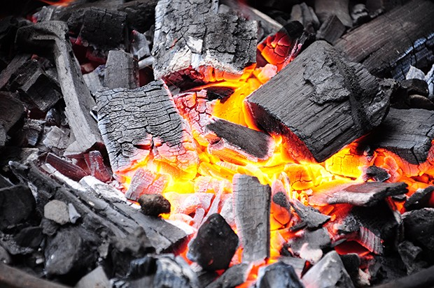 Grillen mit Kohle