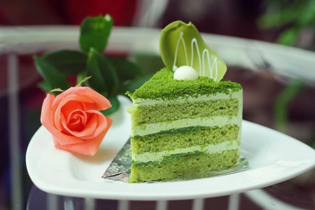 Matcha-Grüntee-Kuchen