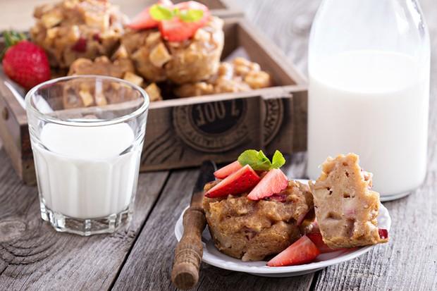 Bei vegane Apfelmuffins schmeckt man keinen Unterschied zur herkömmlichen Variante.