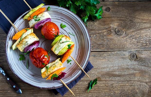 Die perfekte Grill-Kombination aus Gemüse und Käse.