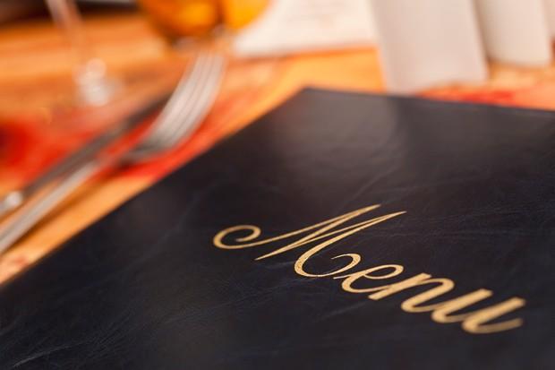 Menükarte im Restaurant