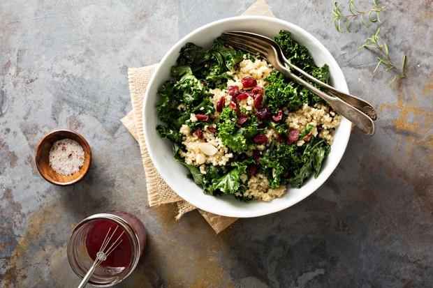 Grünkohl mit Quinoa