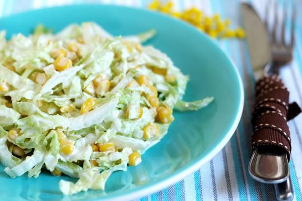 Chinakohlsalat mit Mais