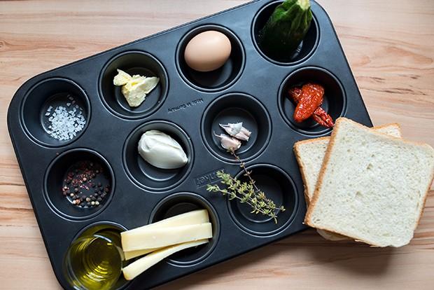 Für die herzhaften Muffins werden nur ein paar Zutaten benötigt.
