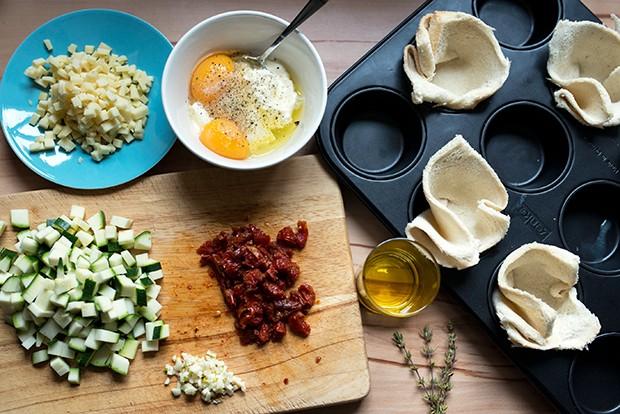 Die Zutaten sind schnell vorbereitet und kann man je nach Geschmack variieren.