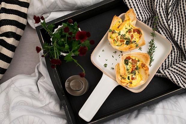 Schnell und einfach zubereitet sind diese pikanten Frühstücksmuffins.