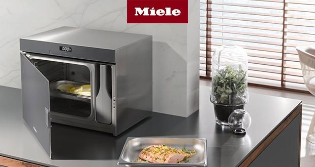 Stand-Dampfgarer (DG6001) von Miele - gesundes Kochen mit der ganzen Familie.