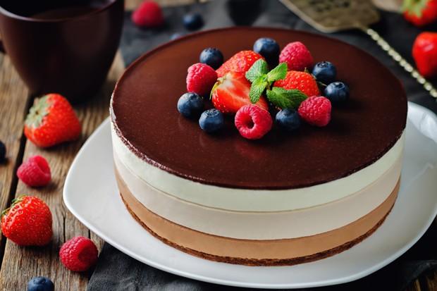 Torte mit Ganache