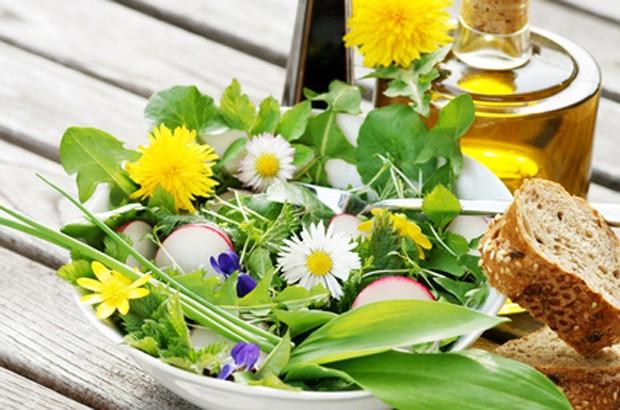 Frühlingskräuter Salat