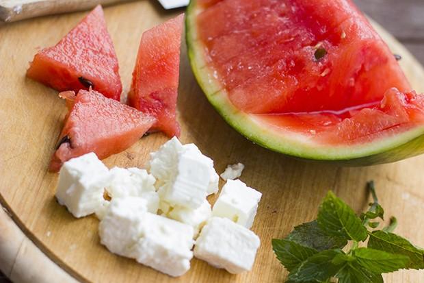 Melone, Minze und Feta sind eine perfekte Geschmacks-Kombination.