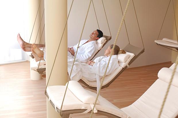 Der großzügige SPA-Bereich, mit seinem reichhaltigen Angebot im Bereich Beauty und Massagen auf Basis der 4 Elemente.