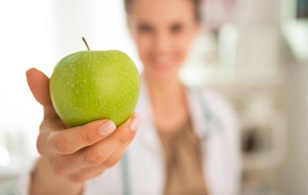 Ein Apfel ist gesund