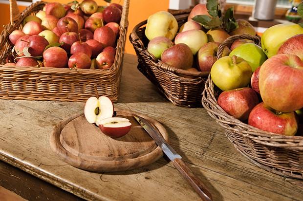 Mit unterschiedlichen Apfelsorte kann man auch den Geschmack des Gerichts verändern.