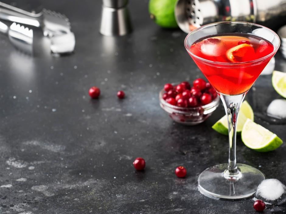 Himbeer-Cranberry-Cosmopolitan
