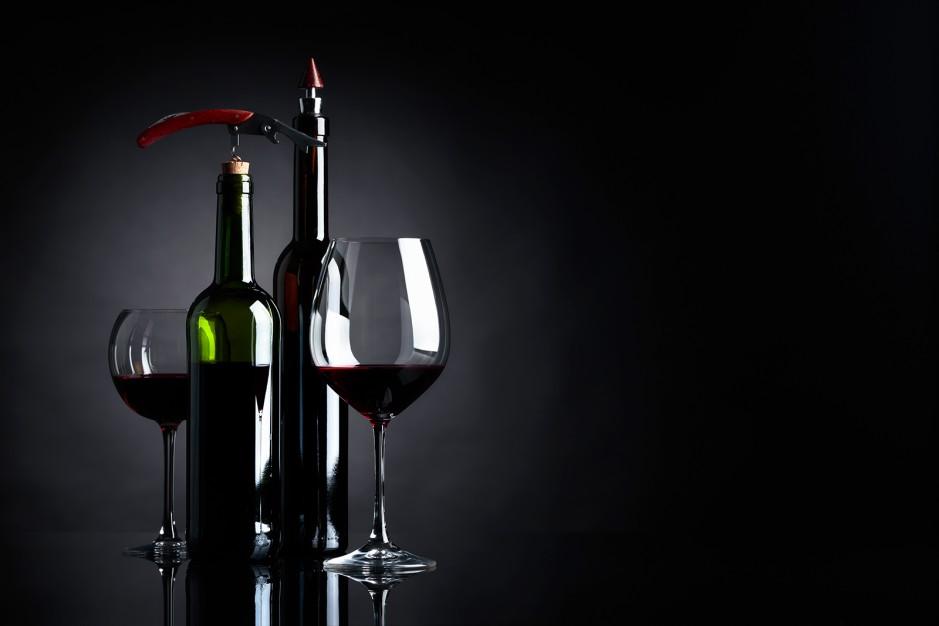 Wein mit Verschluß zum Aufbewahren