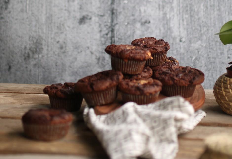 Doppelte Schoko Muffins