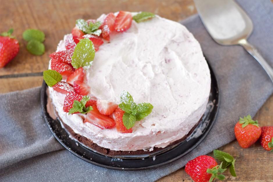 Erdbeer-Cheesecake ohne backen