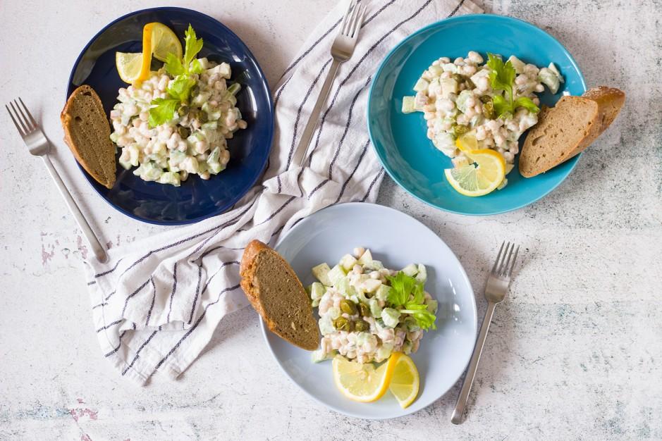 Bohnen-Apfel-Sellerie-Salat für die Fastenzeit