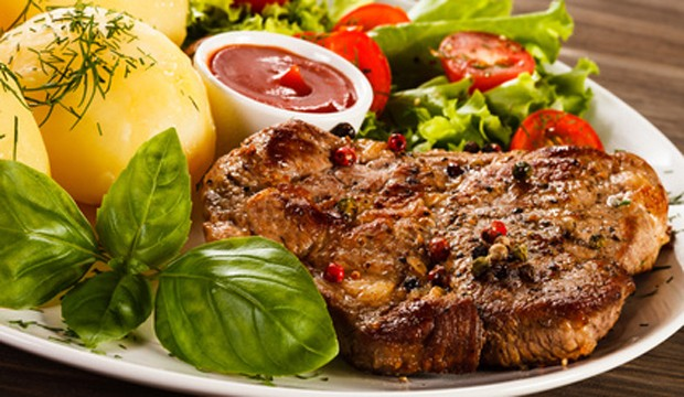 Steak am Teller
