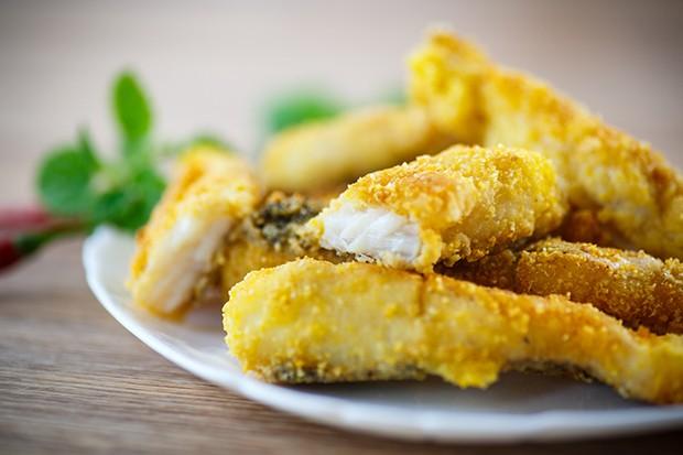 Durch das feste Fleisch lassen sich die Filets auch sehr gut panieren.