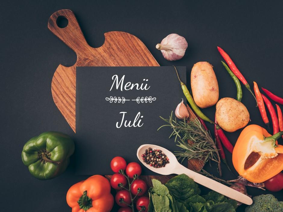 Menü im Juli
