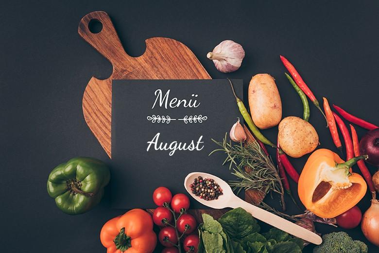 Menü im August