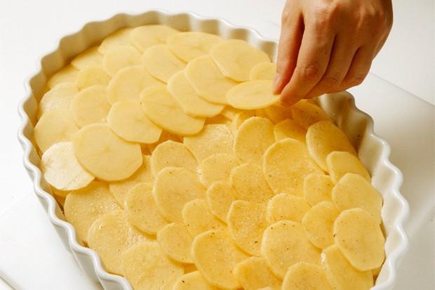 Kartoffelgratin überbacken